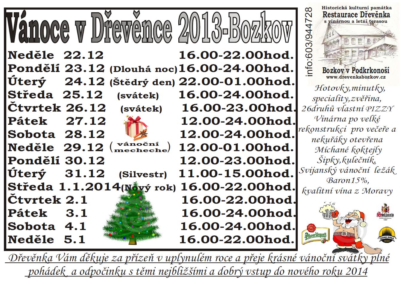 Vánoce v Dřevěnce